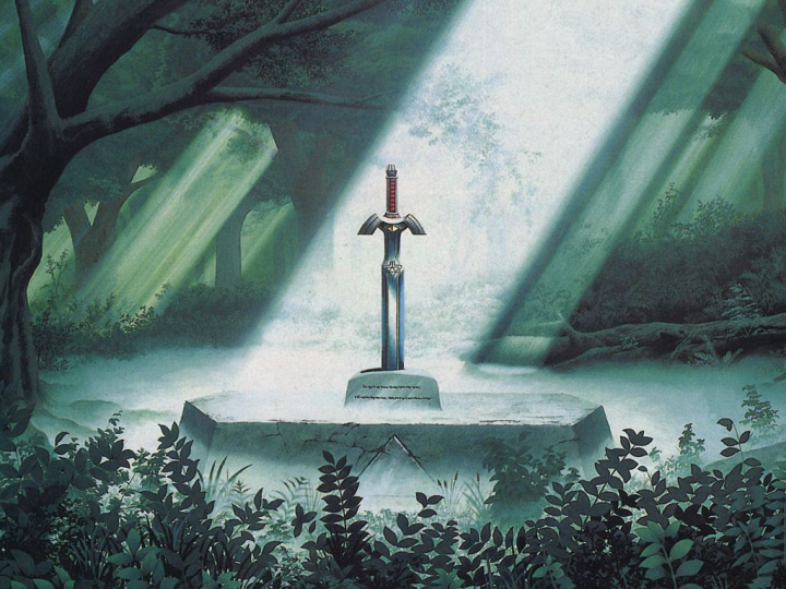 Artwork of the Master Sword