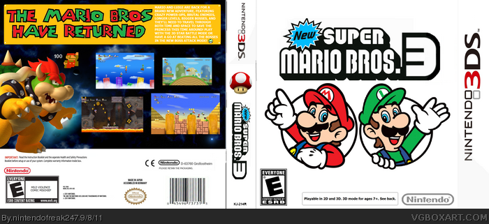 super mario bros. 3 for nintendo 3ds