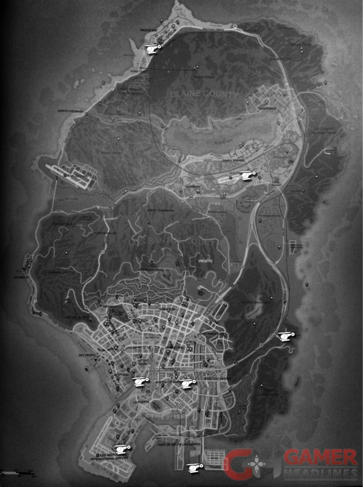GTA 5 Online Tips Cheats Full Helicopter Map