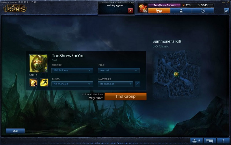 league screen 1