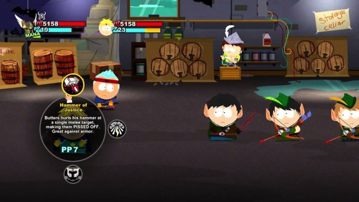 South Park's turn based style