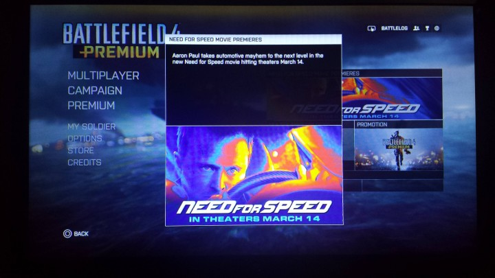 Need for Speed in-game ad