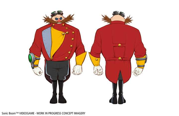 Dr. Eggman (née Robotnik)'s outfit was designed to reflect his vanity when compared to Sonic and his buddies