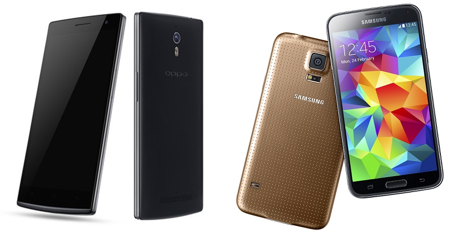 Oppo Find 7 Vs Samsung Galaxy S5 Specifications Comparison