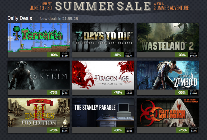 Steam Summer Sale Day 3: Terraria, Skyrim, Stanley Parable and more