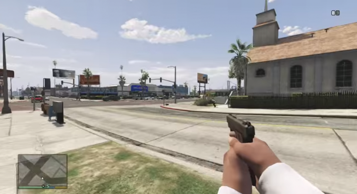 New mod in Grand Theft Auto V shows first person perspective