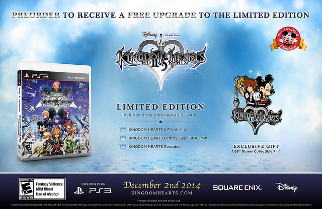 Kingdom Hearts 2.5 ReMix Pre-Order Incentives Announced