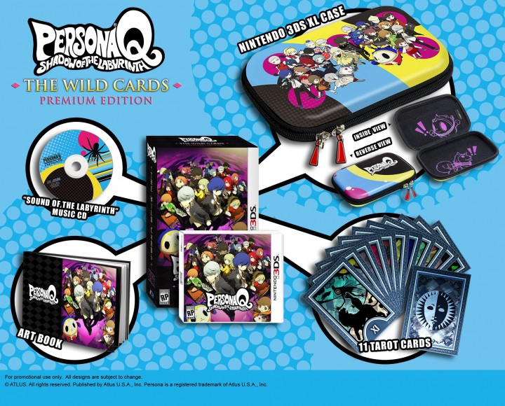 Pre-order Persona Q: Shadow of the Labyrinth The Wild Cards Premium Edition today