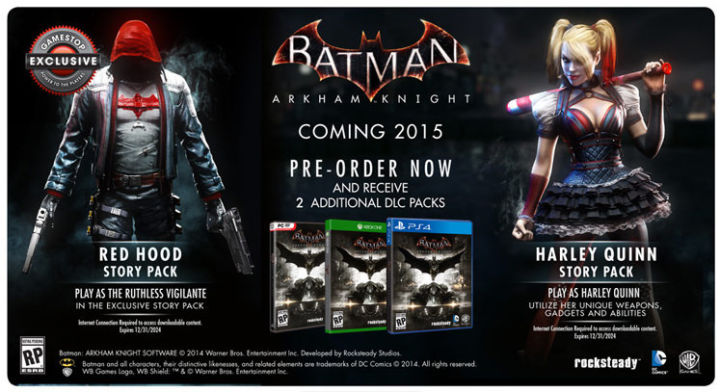 Exclusive Batman: Arkham Knight Story Pack