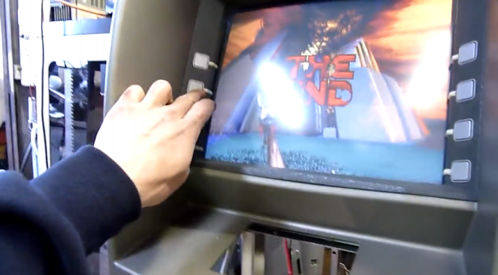 Doom Played on an ATM? Take a Look at this Set-Up!