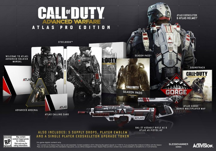 Pre-order the Call of Duty Advanced Warfare Atlas edition on Amazon today