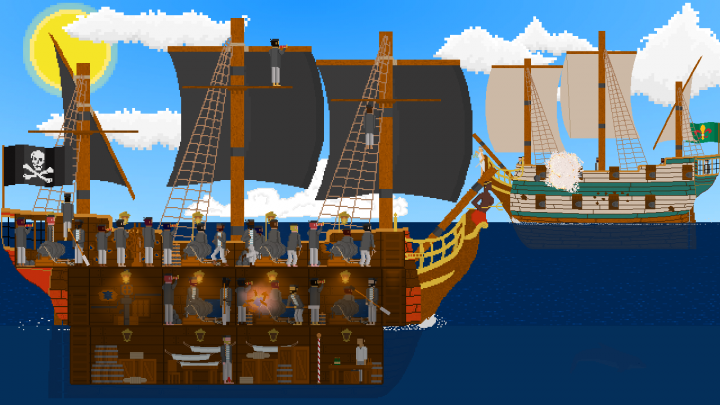Check out Seaworthy, a gory Pirate themed Rougelike