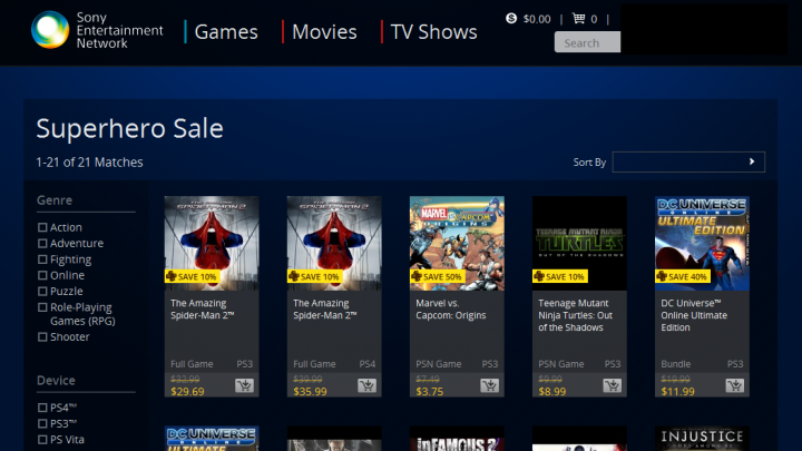 Superhero Sales on PSN, XBG Soothe the Sting of Missing SDCC