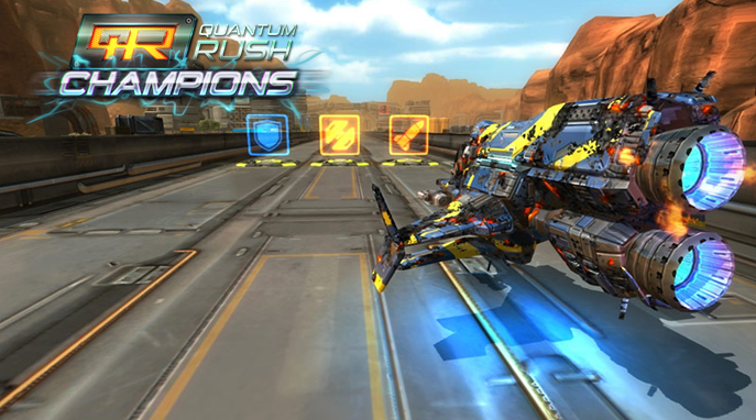 Quantum Rush Online: Jet-flying Vehicles like Star Wars Race!