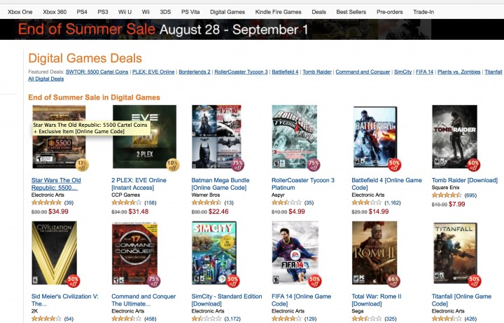Amazon Summer Games Sale is ridiculous, ends September 1st