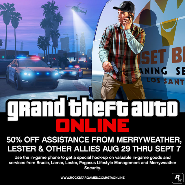 For this week only get 50% off all GTA Online phone contacts