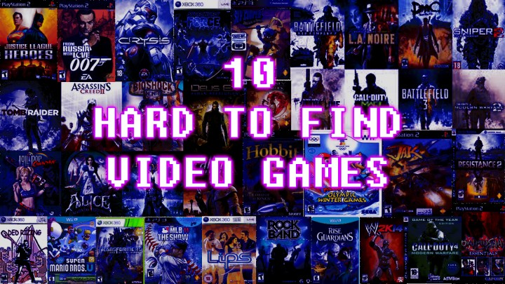 10 Hard To Find Video Games