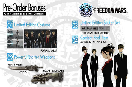 Get your suit on with the Freedom Wars Pre-Order bonuses