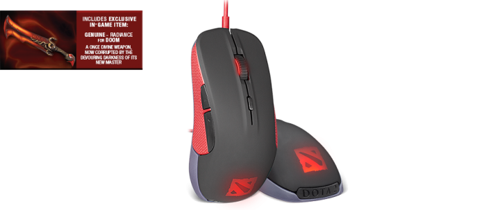 Exlusive SteelSeries DOTA 2 Gaming PC Mouse