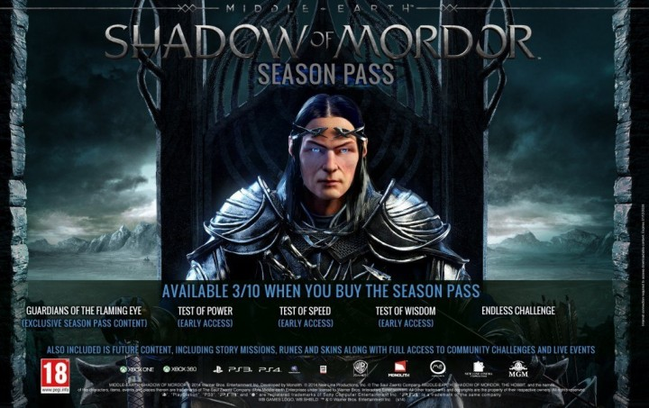 Middle-earth: Shadow of Mordor Season Pass Details