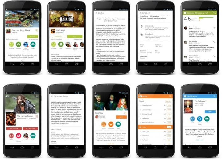 Google Material Redesigned Play Store Looks Great