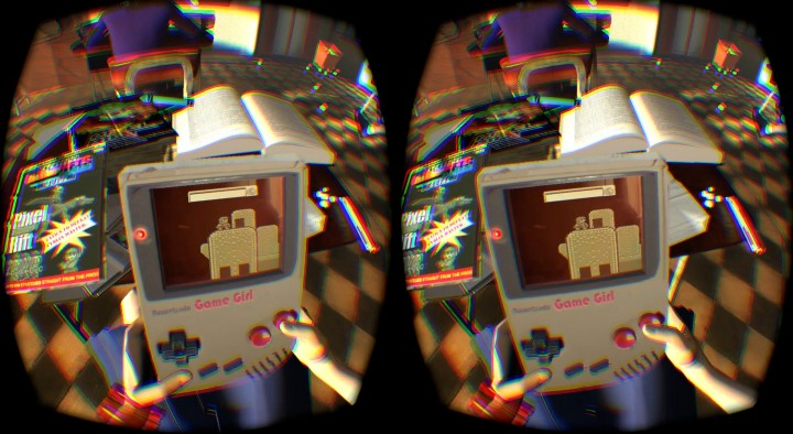 Pixel Rift, the Occulus Rift game about playing a game