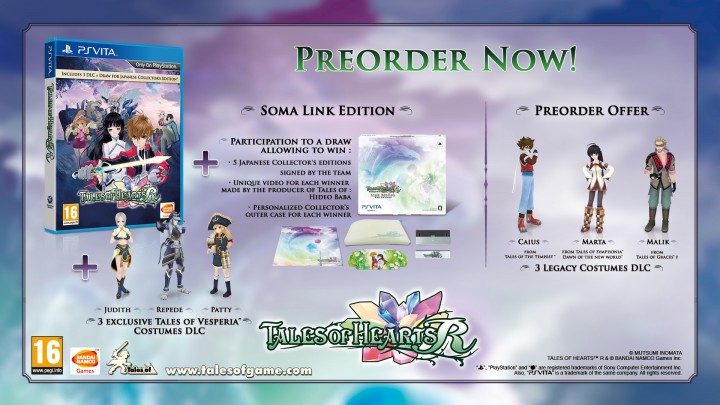 Check out what you'll get if you pre-order Tales of Hearts R before its release