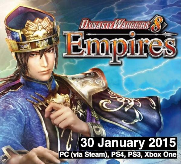 Koei Tecmo Europe announces Dynasty Warriors 8 Empires release date via Twitter