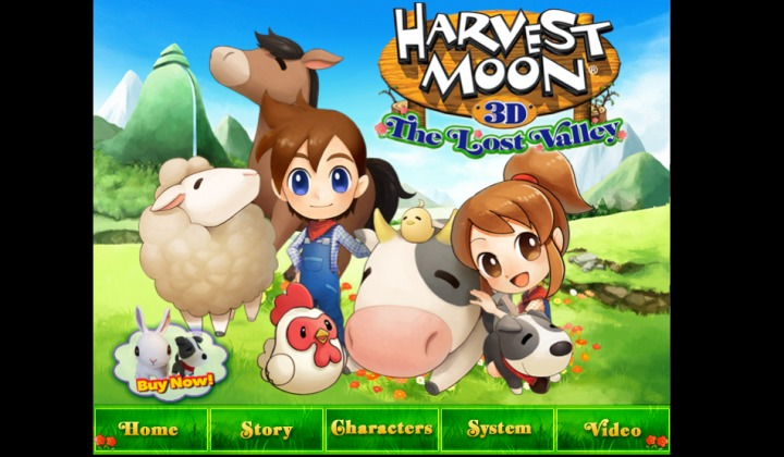 Official Website and Baby in Harvest Moon 3D: the Lost Valley