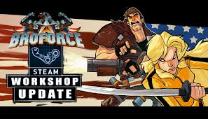 The Broforce tactical update brings Steam Workshop support and two new Bros