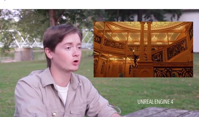 3D Modeling and Scenes in Unreal Engine 4 Footage for Titanic