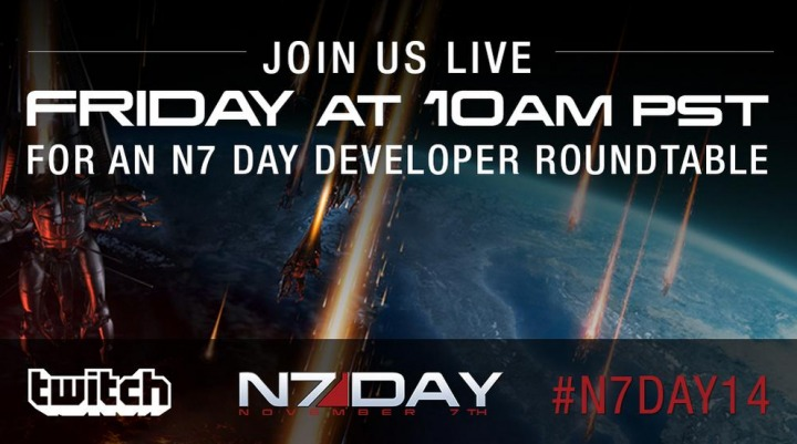 Mass Effect: Bioware devs holding roundtable in celebration of N7 Day