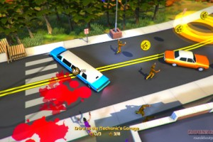 That's a lot of blood you're going to have to explain to the cops later in the Roundabout Announcement trailer.